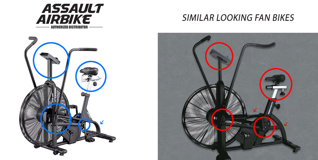 Assault bikes vs similar looking bikes