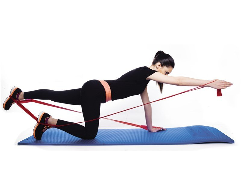 TheraBands 11 Loops CLX workout
