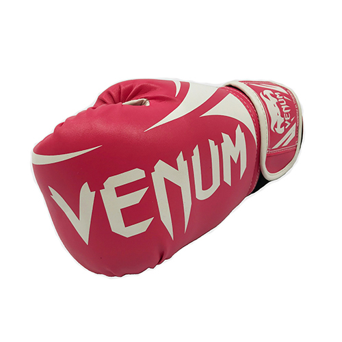 Venum Pink & White Boxing Gloves