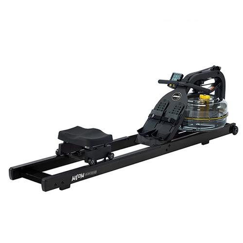 black neon rower
