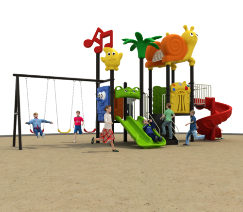 Swing and slide Garden playground