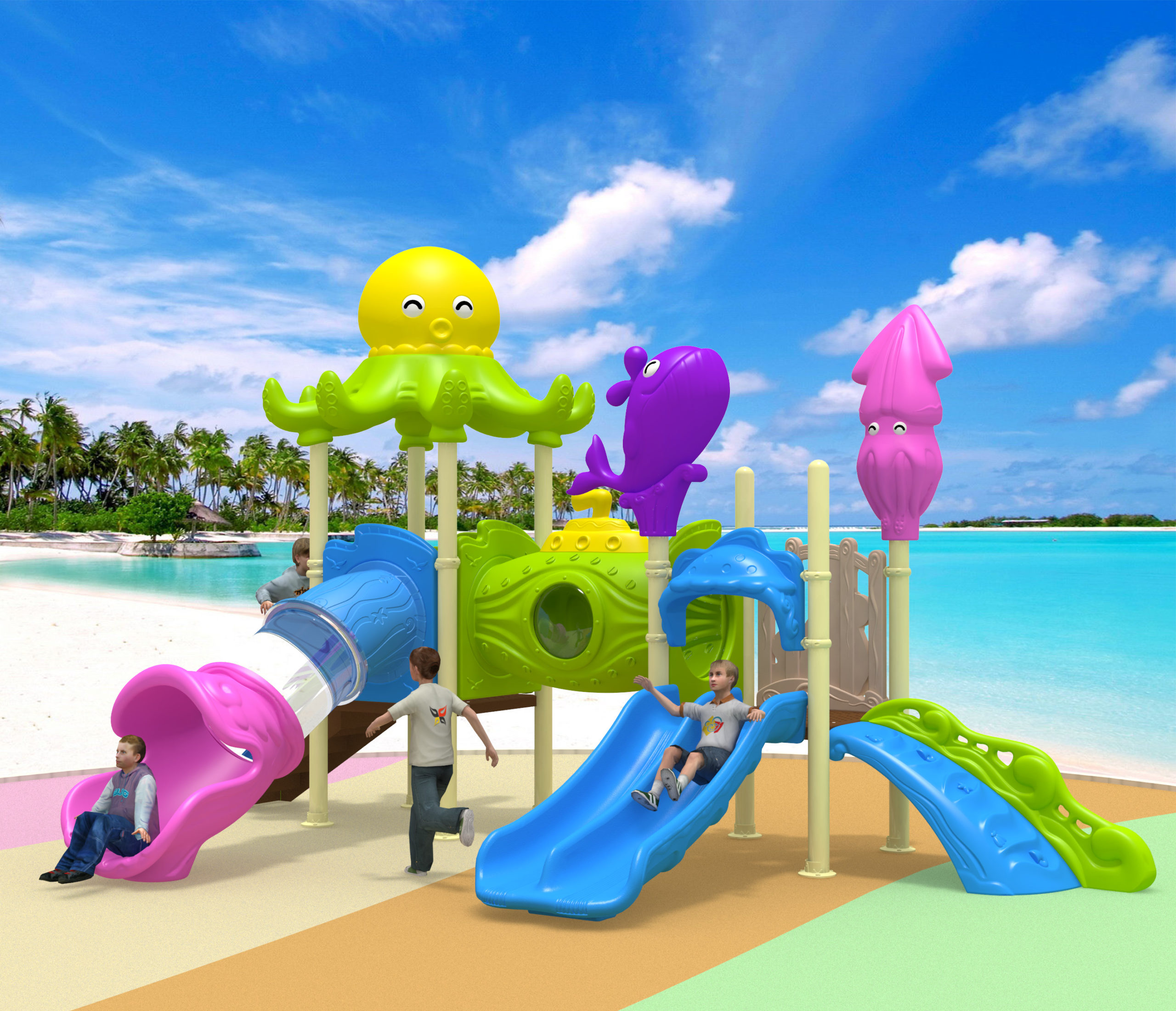 KIDS EQUIPMENT: SQUID ADVENTURE PLAYGROUND [DFC 128-2]