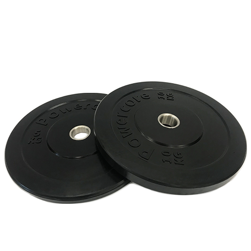 Powercore Olympic Rubber Bumper Plates (MOULDED LOGO)